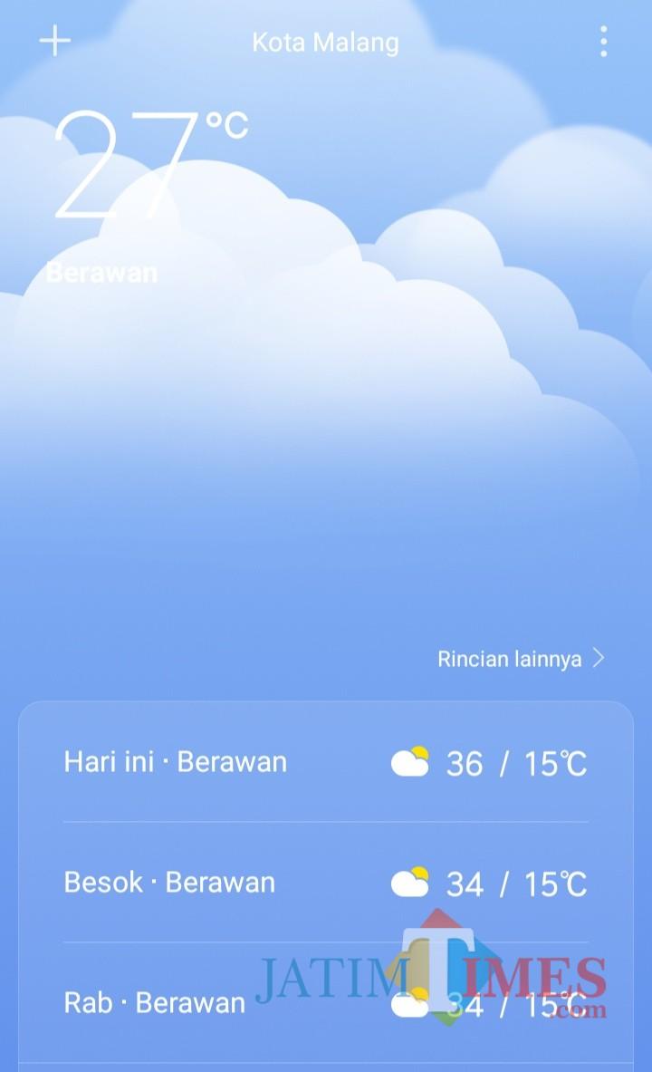 Suhu Saat Ini : Malang, Alami, Tanpa, Hujan, MalangTIMES