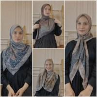 Inspirasi Pakai Hijab Segi Empat Ala Dwi Handayani