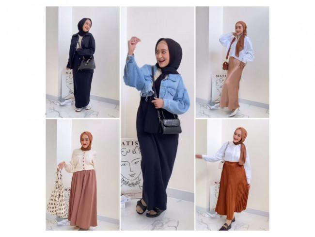Simple, Cukup Penggunaan Rok dan Skirt untuk Outfit Casual Hingga Kondangan ala Hijabers