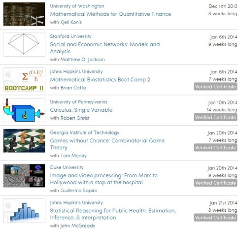 Math on Coursera