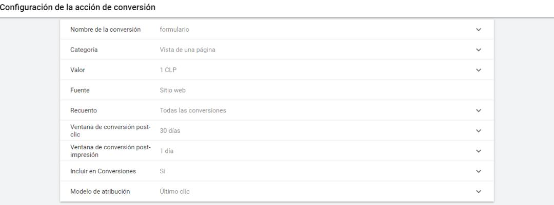 Conversión Adwords + Contact Form 7