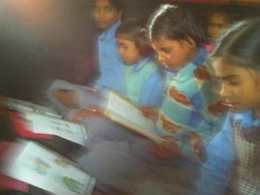 Babita Maurya photographs local schools.