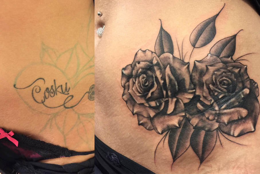 coveruptattoo-rosetattoo-tattoovoorbeelden