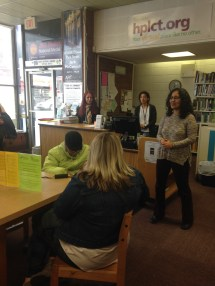 Leticia Cotto Welcomes us to the Hartford Public Library, Park Street Brancht