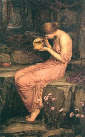 """Psyche Opening the Golden Box"" by John William Waterhouse (1903)"