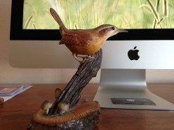 Carolina Wren carved by Emily Lee