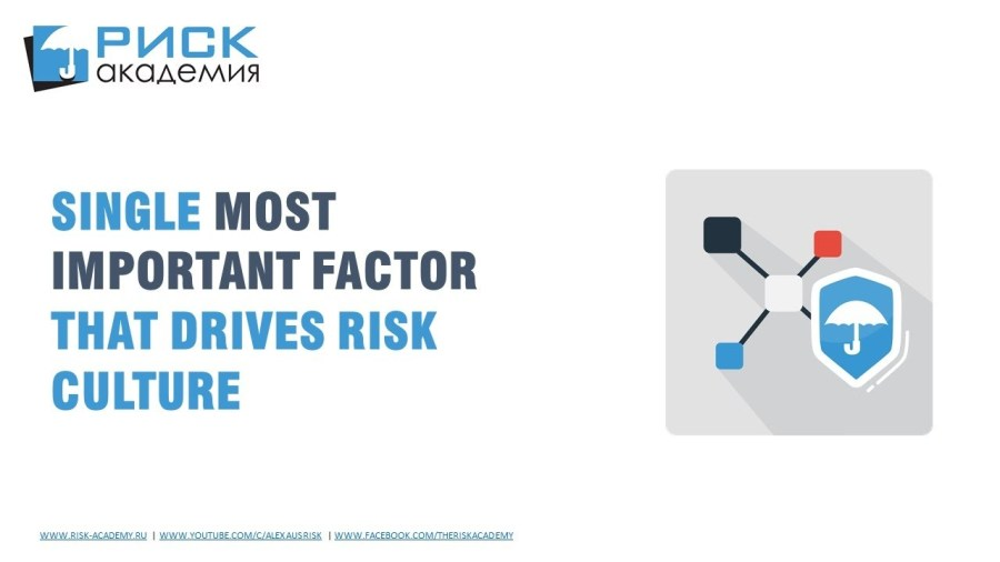 47. Single most important factor that drives risk culture – Alex Sidorenko