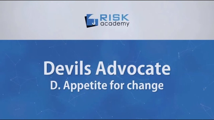 87. Devils advocate – Appetite for change (part d) – Alex Sidorenko