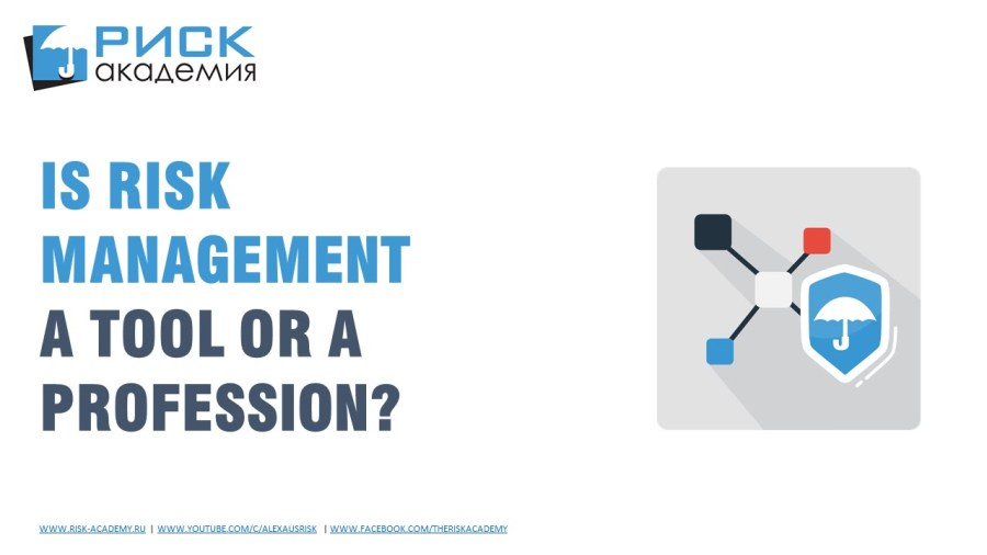 19. Is risk management a profession or just a management tool?
