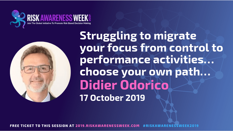 Struggling to migrate your focus from control to performance activities… choose your own path… #riskawarenessweek2019