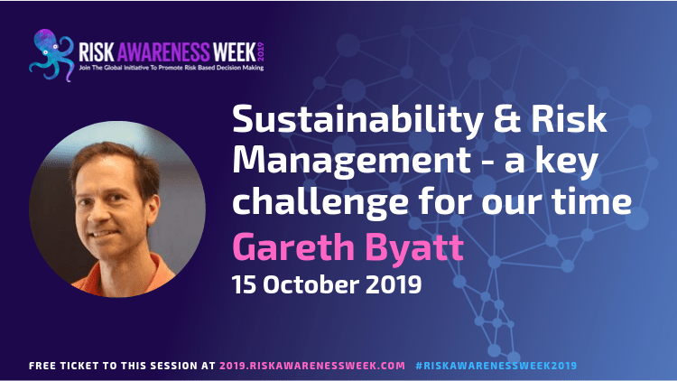 REPLAY: Sustainability & Risk Management – a key challenge for our time #riskawarenessweek2019