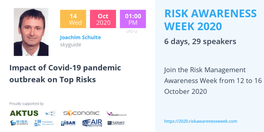 RAW2020: Impact of Covid-19 pandemic outbreak on Top Risks – Joachim Schulte
