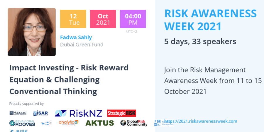 RAW2021 – Impact Investing – Risk Reward Equation & Challenging Conventional Thinking