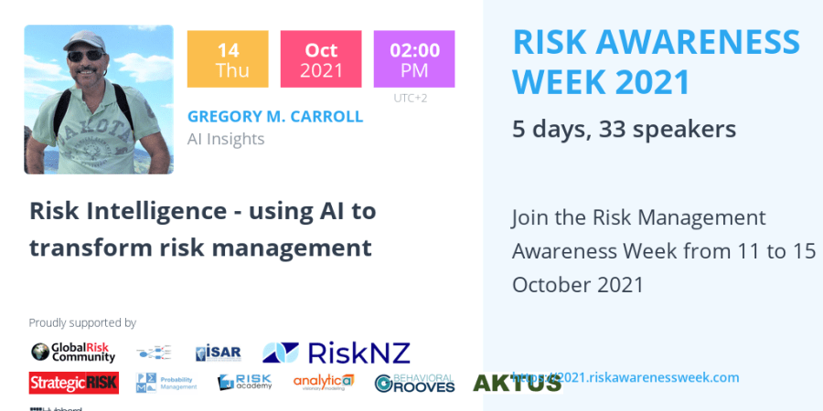 RAW2021 – Risk Intelligence – using AI to transform risk management