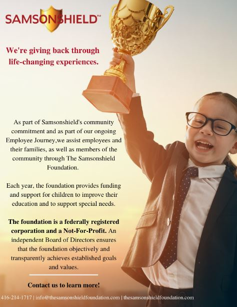 Samsonshield Foundation Ad