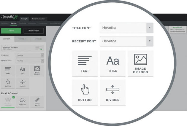 Receiptful - Design and Appearance Options
