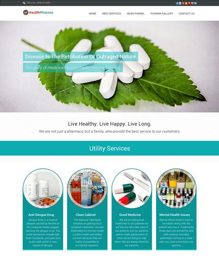 health pharma wp theme