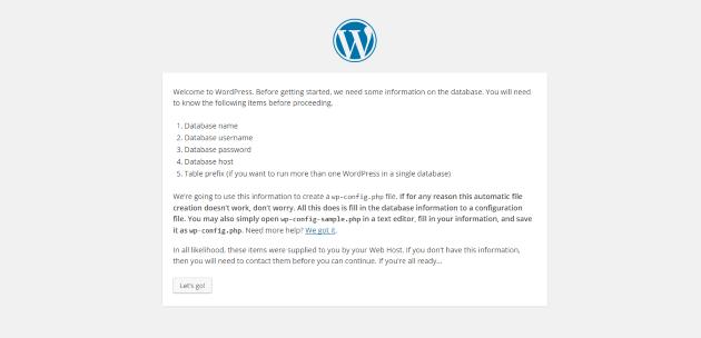 WordPress Setup Get Started