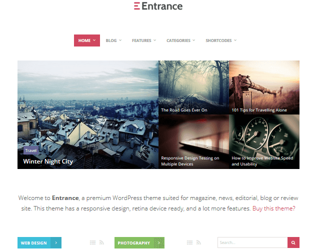 entrance-wordpress-curation-themes