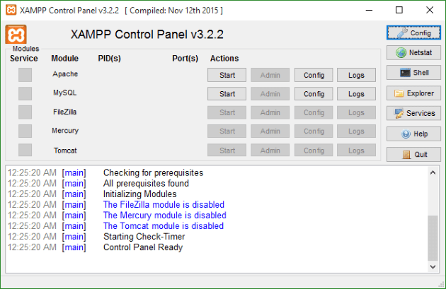 XAMPP Setup Folder