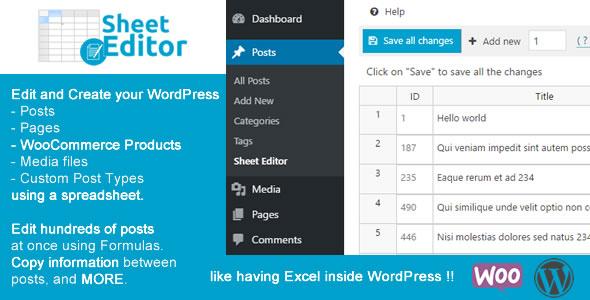 WP Sheet Editor WordPress Plugin