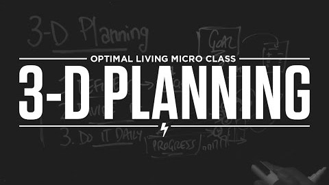 3-D Planning Your Goals Into Reality