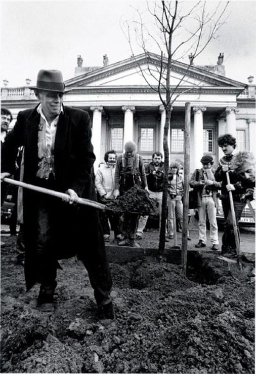 """Kunstwerk """"7000 Eichen"""" von Joseph Beuys, documenta 7, Fridericianum"""