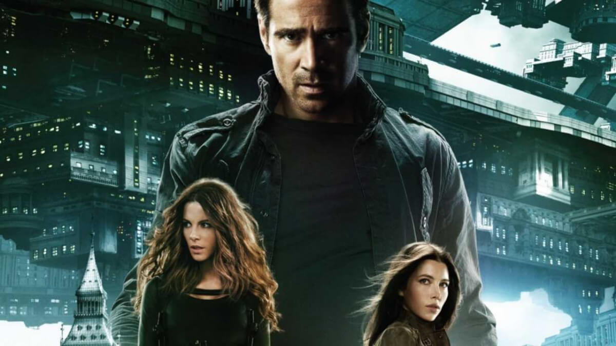 'TOTAL RECALL' (2012). Collin Farrell and Jessica Biel co-star in this sci-fi film about a man who tries to regain freedom. Text © Rissi JC