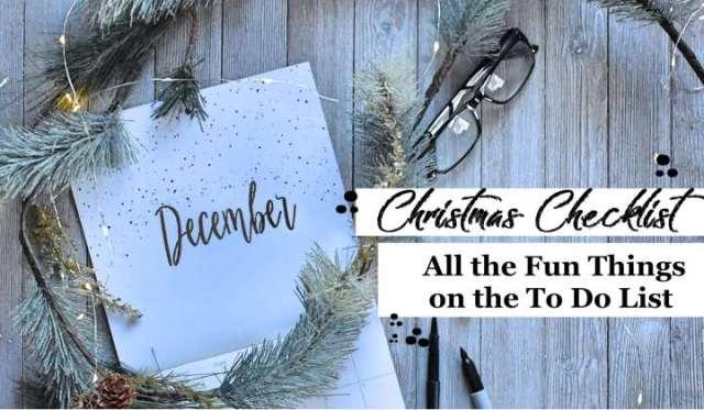 Christmas Checklist 2018