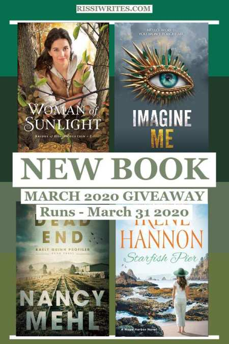 """A New Book March 2020 Giveaway: Romance, Fantasy and More! Enter the new monthly giveaway for a """"winner's choice"""" March release."""