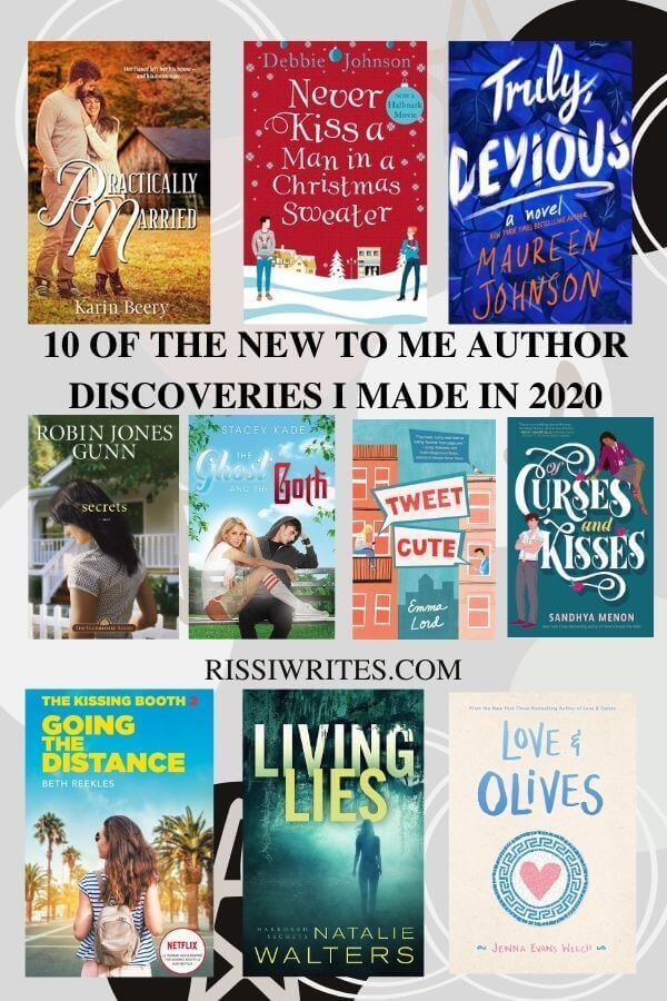 """10 OF THE NEW TO ME AUTHOR DISCOVERIES I MADE IN 2020. What are your """"new to me authors of 2020""""? Come share! Text © Rissi JC"""