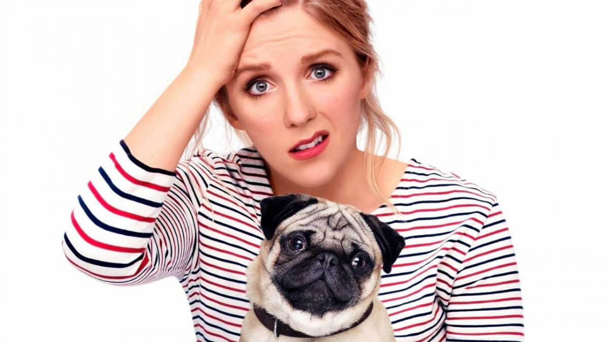 'PATRICK': A REALLY CUTE AND UNDERRATED BRITISH COMEDY. Review of the 2018 film about a woman who must content with an unruly pug! Text © Rissi JC