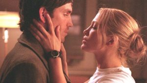 SEE THE ROMANCE DRAMA 'ANGEL EYES' WITH JENNIFER LOPEZ PLAYING A COP. Jennifer Lopez and Jim Caviezel co-star in this 2001 drama. Text © Rissi JC