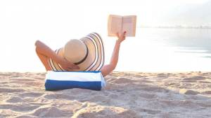 SOME LATE SUMMER (MAYBE FUN!) BEACH READ OPTIONS TO CONSIDER. Sharing a few possible sit back and relax Summer beach reads kind of list! All text is © Rissi JC