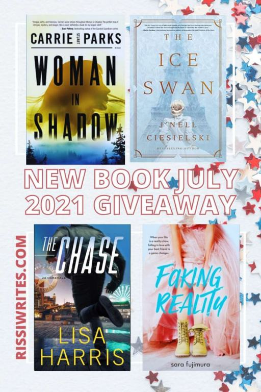 NEW BOOK GIVEAWAY JULY 2021. A new month brings a new book giveaway July 2021! What are you anticipating? Text © Rissi JC