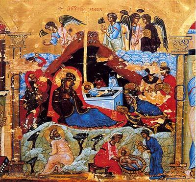 Різдво Христове. Синайська ікона з ХІІ ст.