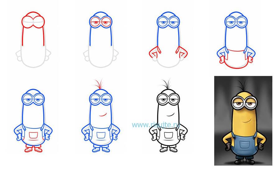 как нарисовать прикольные рисунки карандашом прикольные поэтапно