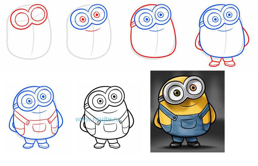 Как нарисовать смешные картинки поэтапно карандашом для начинающих