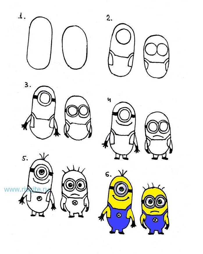 Открытки английском, смешные рисунки по этапам карандашом