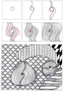 08.Как рисовать дудлинг поэтапно схемы