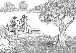18.Картинки раскраски антистресс