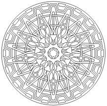 14.мандалы для раскрашивания распечатать