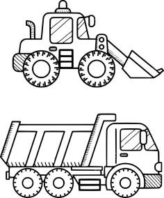 15.Раскраска машины для мальчиков распечатать