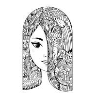07.Раскраски антистресс девушки