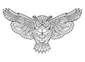 04.Раскраски антистресс совы