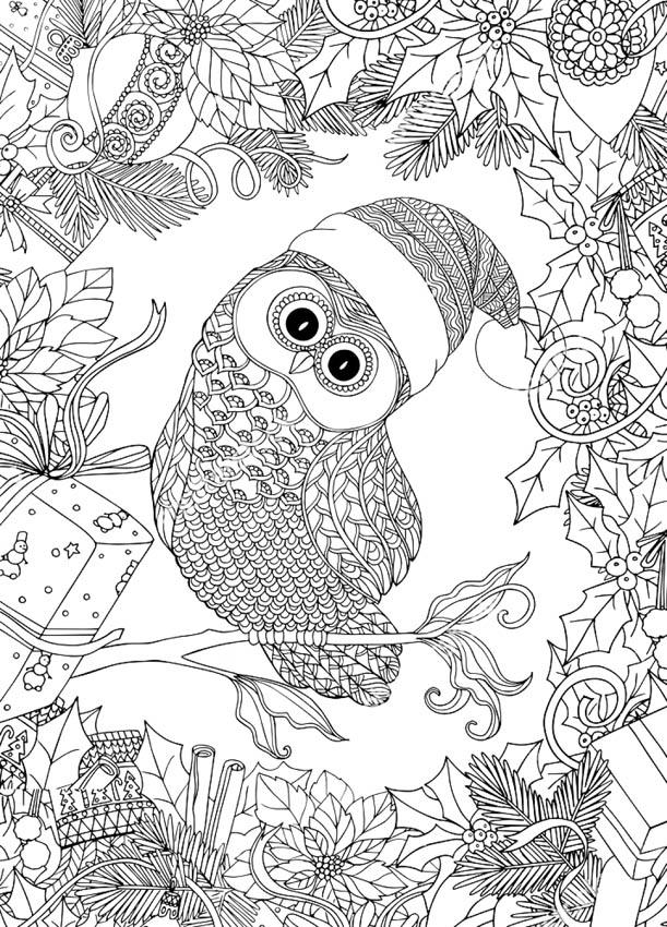 Раскраски антистресс совы