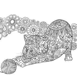 17.Раскраски антистресс животные