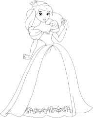 11.Раскраски для девочек распечатать бесплатно принцессы