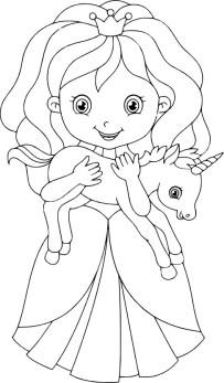 12.Раскраски для девочек распечатать бесплатно принцессы