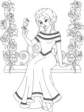 15.Раскраски для девочек распечатать бесплатно принцессы